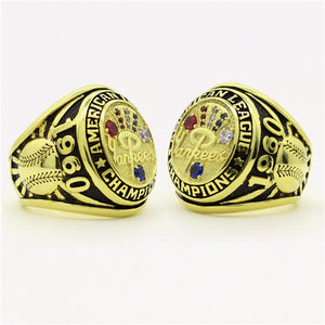 New York Yankees 1960 American League Championship Ring with Red Ruby and Blue Sapphire