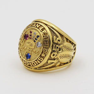 New York Yankees 1955 American League Championship Ring with Blue Sapphire and Red Ruby