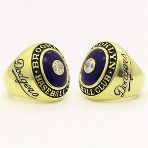 Custom Brooklyn Dodgers 1947 National League Championship Ring with Amethyst