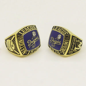 Custom Los Angeles Dodgers 1978 National League Championship Ring With White Rock Crystal