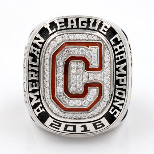 Cleveland Indians 2016 American League Championship Ring With Red Garnet