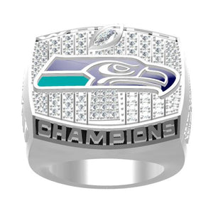 Custom Seattle Seahawks The 12th Man Ring 2013 Super Bowl XLVIII Fans Ring