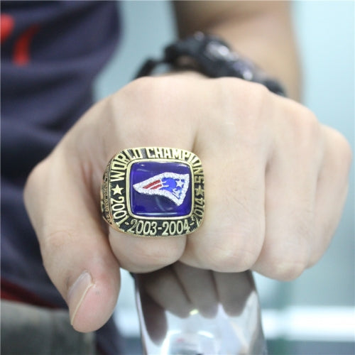 Custom New England Patriots 2014 Super Bowl XLIX Fans Ring With Blue Lapis Lazuli