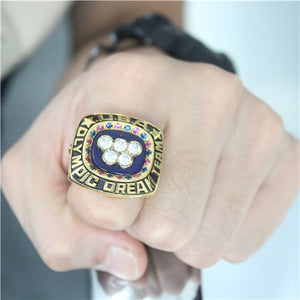 Custom Team USA Basketball 1996 Summer Olympics Championship Ring With Blue Lapis Lazuli