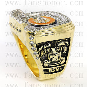 Customized NFC 2006 Chicago Bears National Football Championship Ring