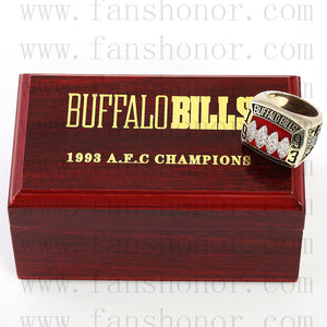 Customized AFC 1993 Buffalo Bills American Football Championship Ring