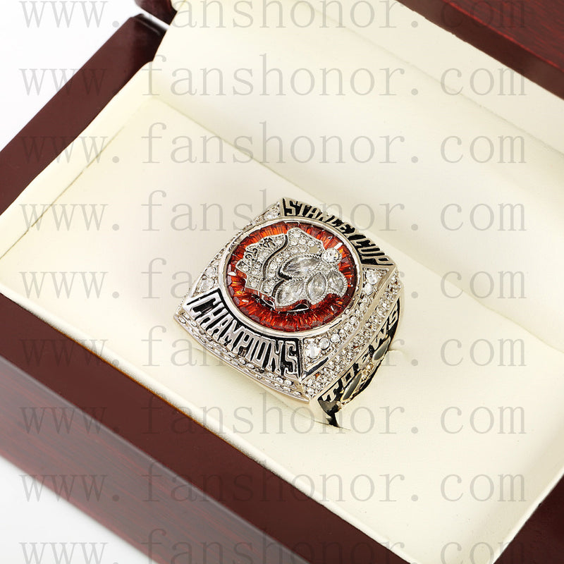 Customized NHL 2013 Chicago Blackhawks Stanley Cup Championship Ring