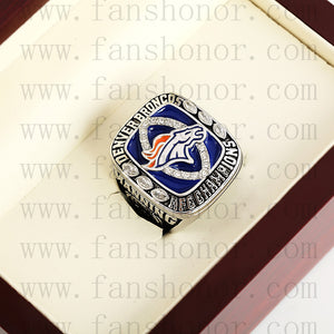 Customized AFC 2013 Denver Broncos American Football Championship Ring