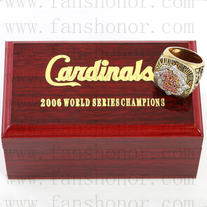 Customized MLB 2006 St. Louis Cardinals World Series Championship Ring