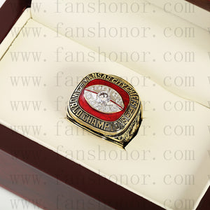 Customized Kansas City Chiefs NFL 1969 Super Bowl IV Championship Ring