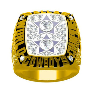 Custom Dallas Cowboys 1977 NFL Super Bowl XII Championship Ring