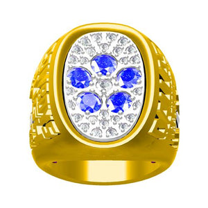 Custom 1978 Dallas Cowboys National Football Championship Ring