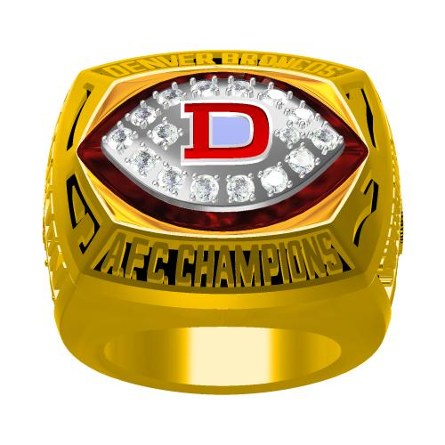 Custom 1977 Denver Broncos American Football Championship Ring