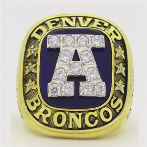 Custom 1986 Denver Broncos American Football Championship Ring