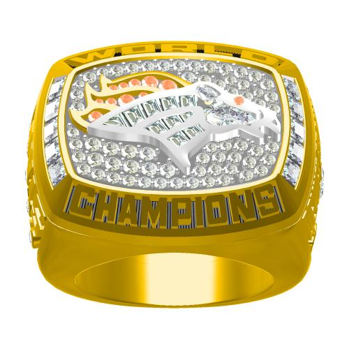 Custom Denver Broncos 1997 NFL Super Bowl XXXII Championship Ring