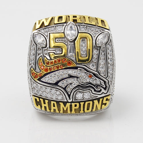 Custom 2015 Super Bowl 50 Denver Broncos Championship Rings