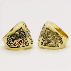 Custom 1990 Detroit Pistons NBA Basketball World Championship Ring