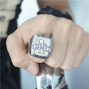 Custom 2004 Detroit Pistons NBA Basketball World Championship Ring