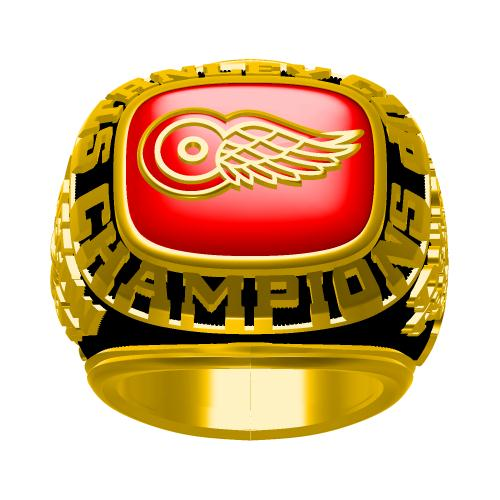 Custom 1997 Detroit Red Wings NHL Stanley Cup Championship Ring