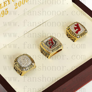 Customized New Jersey Devils NHL Championship Rings Set Wooden Display Box Collections