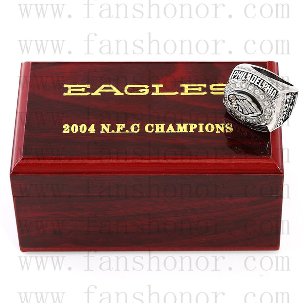 Customized NFC 2004 Philadelphia Eagles National Football Championship Ring