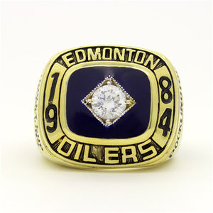 Custom 1984 Edmonton Oilers NHL Stanley Cup Championship Ring