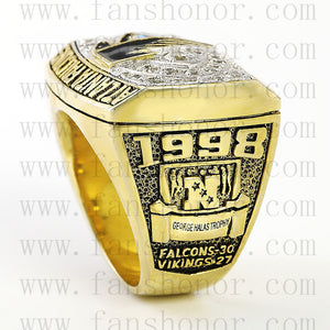 Customized NFC 1998 Atlanta Falcons National Football Championship Ring