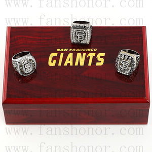 Customized San Francisco Giants MLB Championship Rings Set Wooden Display Box Collections