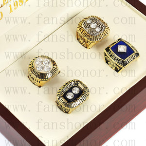 Customized New York Islanders NHL Championship Rings Set Wooden Display Box Collections