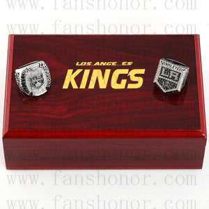 Customized Los Angeles Kings NHL Stanley Cup Championship Rings Set Wooden Display Box Collections