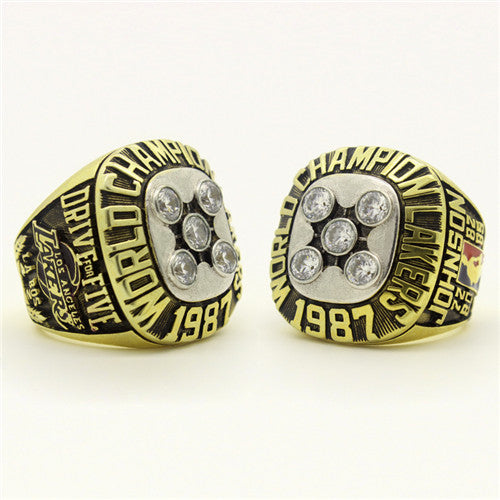Custom 1987 Los Angeles Lakers NBA Basketball World Championship Ring