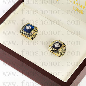 Customized New York Mets MLB Championship Rings Set Wooden Display Box Collections
