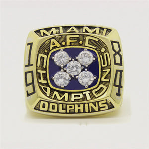 Custom 1984 Miami Dolphins American Football Championship Ring