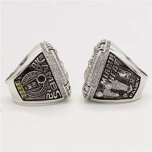 Custom 2012 Miami Heat National NBA Basketball World Championship Ring