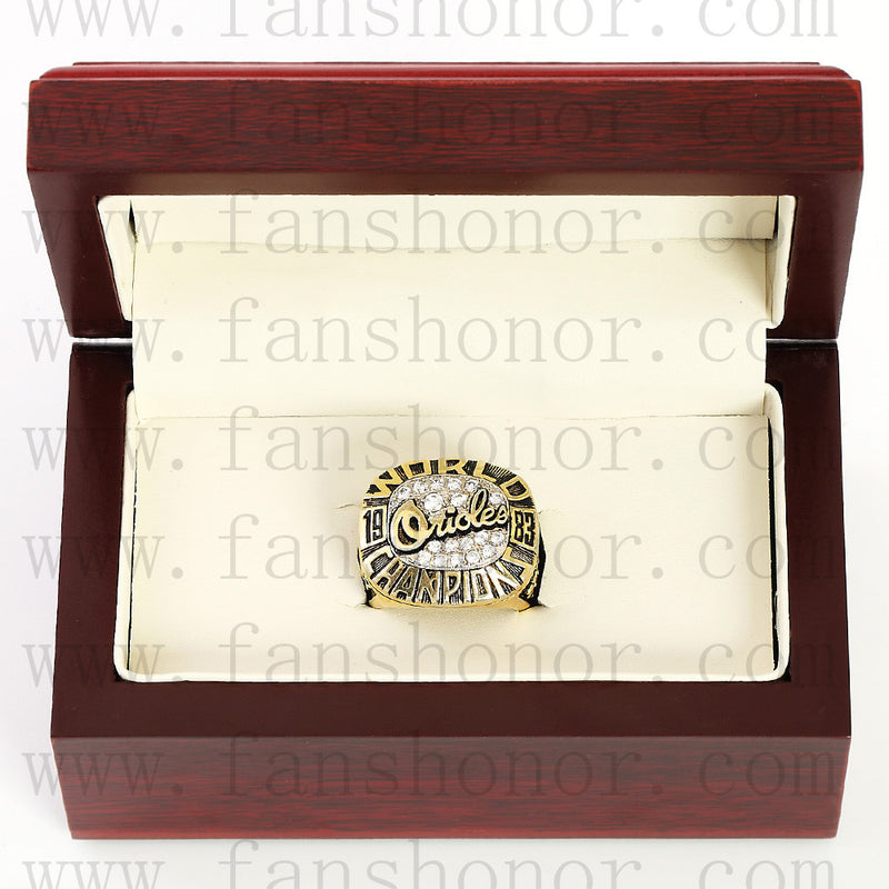 Customized MLB 1983 Baltimore Orioles World Series Championship Ring