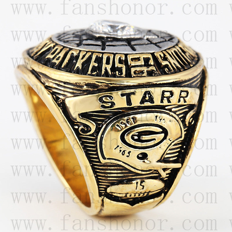 Customized Green Bay Packers NFL 1966 Super Bowl I Championship Ring