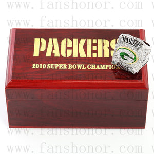 Customized Green Bay Packers NFL 2010 Super Bowl XLV Championship Ring