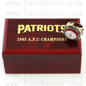 Customized AFC 1985 New England Patriots American Football Championship Ring