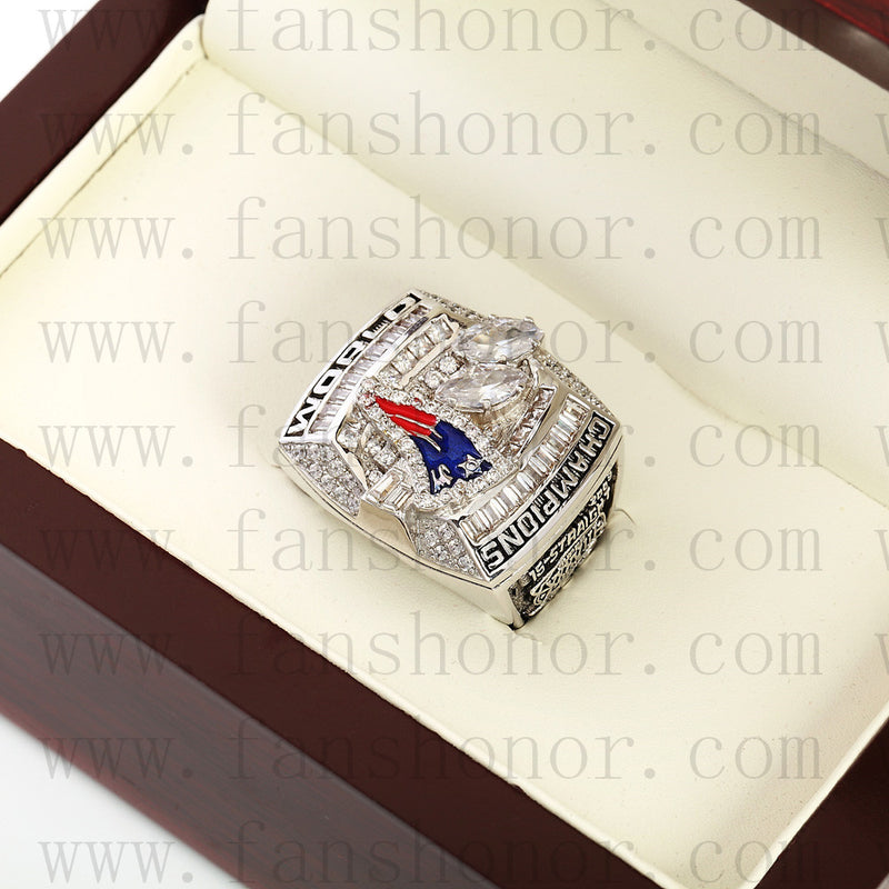 Customized New England Patriots NFL 2003 Super Bowl XXXVIII Championship Ring