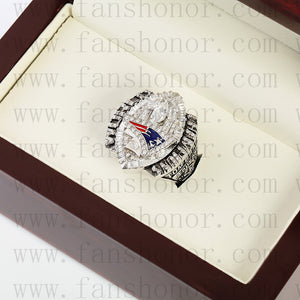 Customized New England Patriots NFL 2004 Super Bowl XXXIX Championship Ring