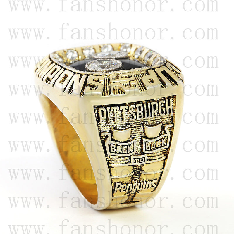 Customized NHL 1992 Pittsburgh Penguins Stanley Cup Championship Ring