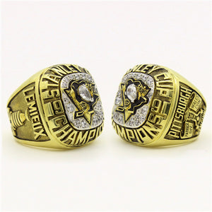 Custom 1991 Pittsburgh Penguins NHL Stanley Cup Championship Ring