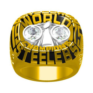 Custom Pittsburgh Steelers 1975 NFL Super Bowl X Championship Ring