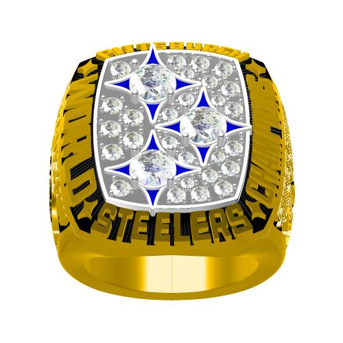 Custom Pittsburgh Steelers 1978 NFL Super Bowl XIII Championship Ring
