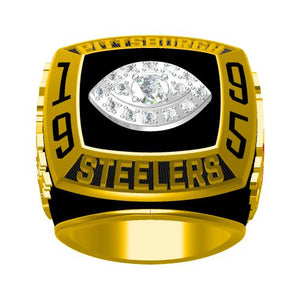 Custom 1995 Pittsburgh Steelers American Football Championship Ring