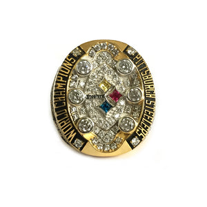 Custom Pittsburgh Steelers 2008 NFL Super Bowl XLIII Championship Ring