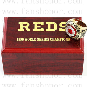 Customized MLB 1990 Cincinnati Reds World Series Championship Ring