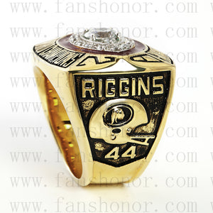 Customized Washington Redskins NFL 1982 Super Bowl XVII Championship Ring