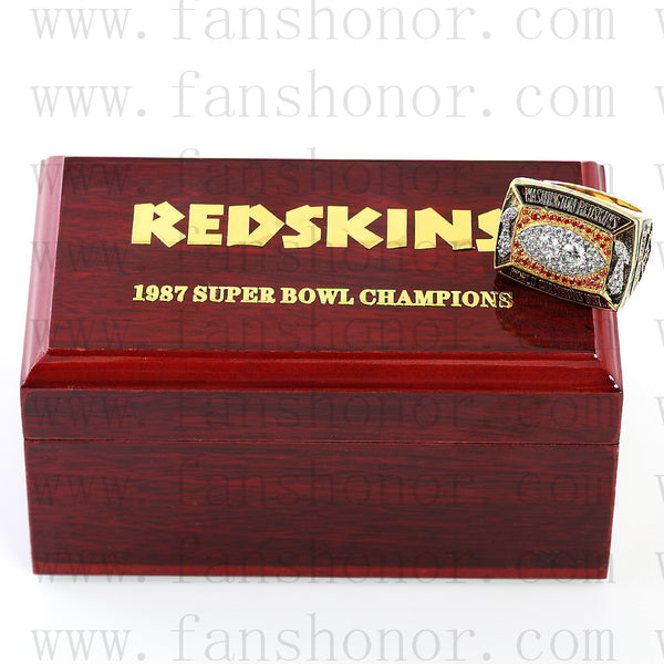 Customized Washington Redskins NFL 1987 Super Bowl XXII Championship Ring