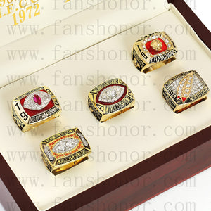 Customized Washington Redskins NFL Championship Rings Set Wooden Display Box Collections